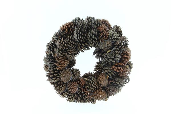 <h4>Wreath Pinecone 38cm Natural</h4>