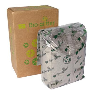 <h4>Bioglitter doos 1 KG Sparkle plus zilver 015 Hex</h4>