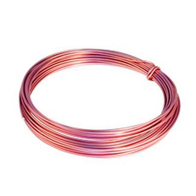 <h4>Gelakt aluminiumdraad -  roze  100 gram (12 meter)</h4>