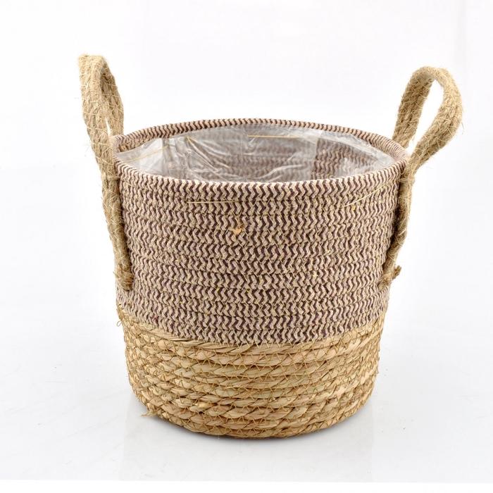 <h4>Baskets Straw+hessian pot d22.5*18cm</h4>