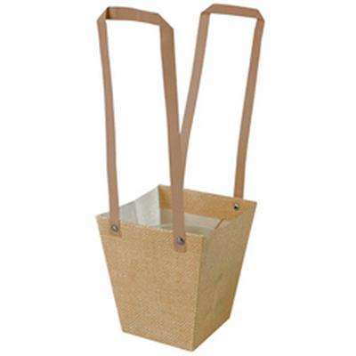 <h4>Bag Fabric PP 13x9,5xH15cm brown</h4>