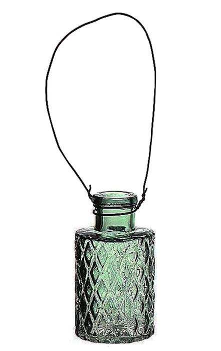 <h4>DF663032100 - Hanging bottle Louvre4 d5.1xh9.2 green</h4>