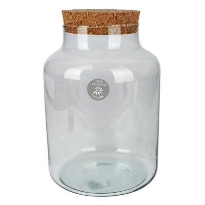 <h4>Glas Kampala met kurk  Ø21xH29,5cm transparant</h4>