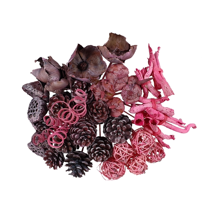 <h4>Bouquet mix 40stems per bq frosted pink</h4>