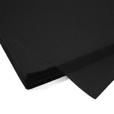 <h4>Papier vel: 50x75cm zijde 480 stuks 17gr zwart *</h4>