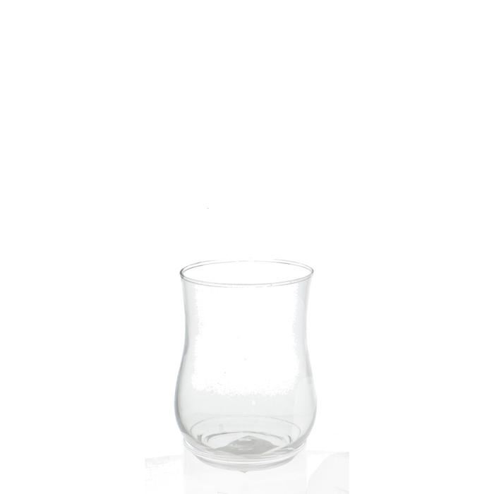 <h4>Glas Windlicht Rosy d09*12.5cm</h4>