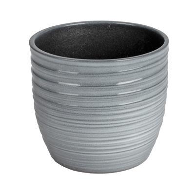 <h4>Pot Bergamo Céramique Ø13xH12cm gris</h4>