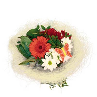<h4>Support à bouquet sisal arrondi mobile Ø30cm crème</h4>