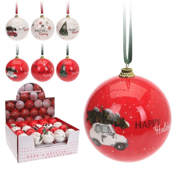 <h4>Christmas bauble Ball Christmas 75mm ass.</h4>