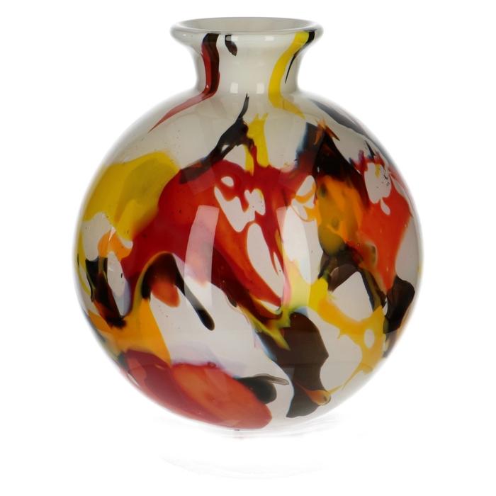 <h4>Glas Fidrio Rio flesvaas bol d3/15*19cm</h4>