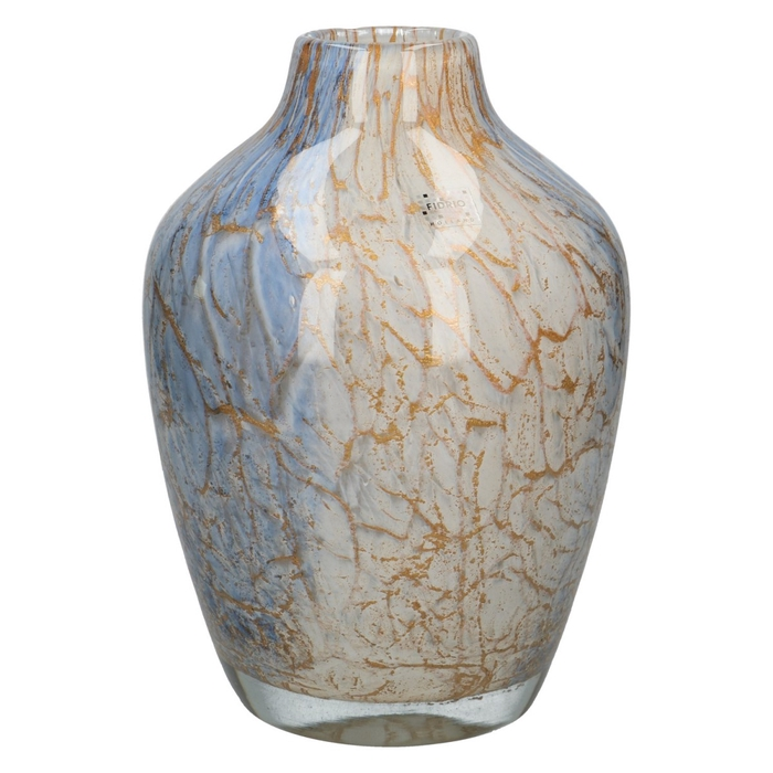 <h4>Glas Fidrio Golden wire vaas d20*28cm</h4>