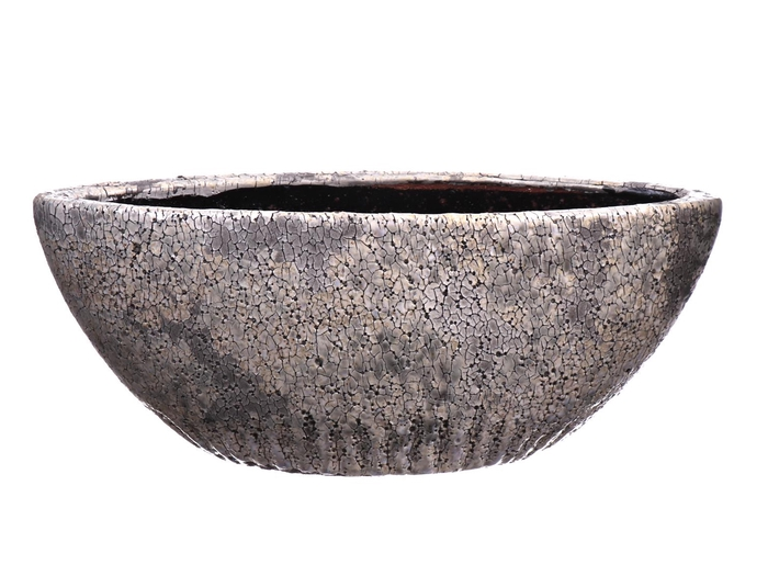 <h4>DF550140400 - Planter Toano oval 29.5x11.5xh12 grey</h4>