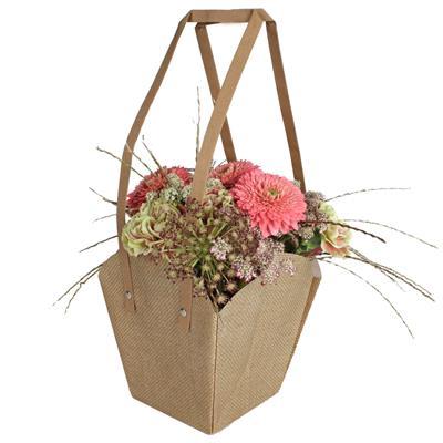 <h4>Bag Fabric XL PP 16,5/16,5x11,5/11,5xH18,5cm brown</h4>