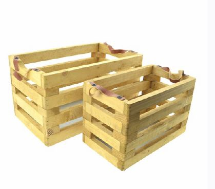 <h4>DF883824100 - S/2 Wooden crate</h4>