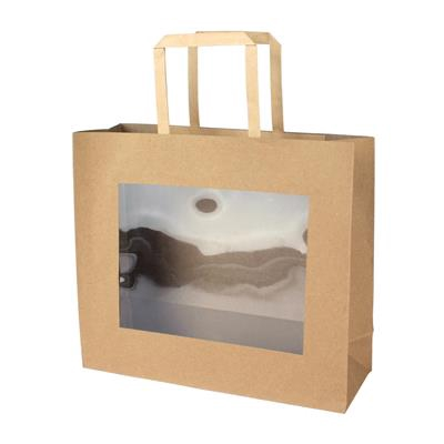 <h4>Bag kraft+window PVC 29x10x25cm brown</h4>