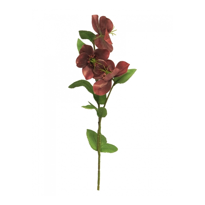 <h4>SILK FLOWERS - HELLEBORUS MONICA PINK/GREEN 40CM</h4>