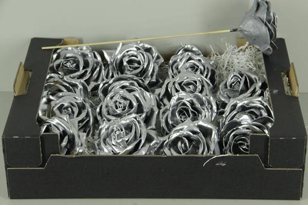 <h4>Wax Rose Silver + Stk 30cm</h4>
