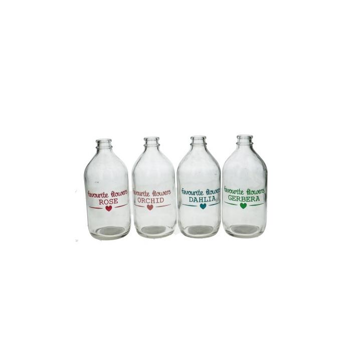 <h4>Glass Bottle Favourite Flowers d08*18cm</h4>