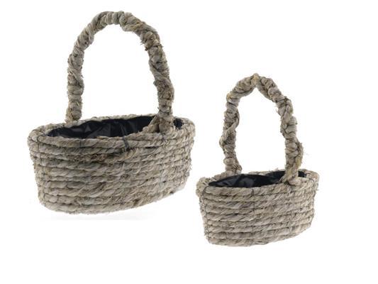 <h4>Basket Rope S/2 40x26x14cm</h4>
