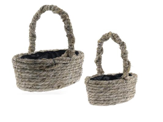 <h4>Basket Rope S/2 40x26x14cm</h4>