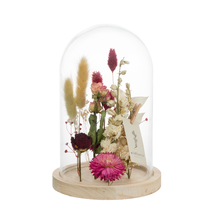 <h4>GLASS BELL MEDIUM LOVE PINK-RED</h4>