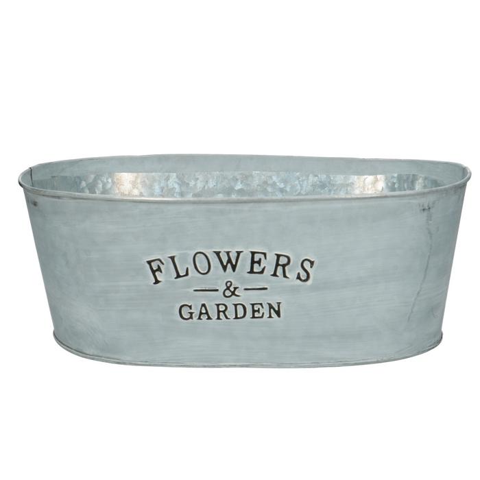 <h4>Zinc Flower&garden oval d30*19*11cm</h4>