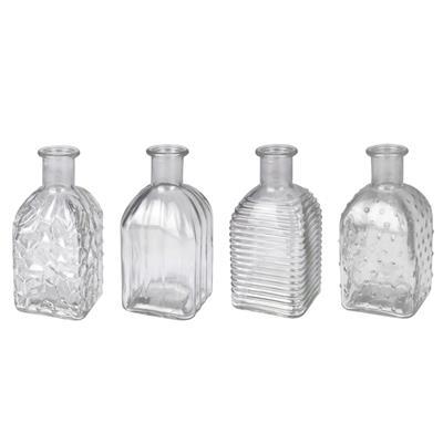<h4>Vase Bamako verre structure D6,5xH13cm tr. ass 4</h4>