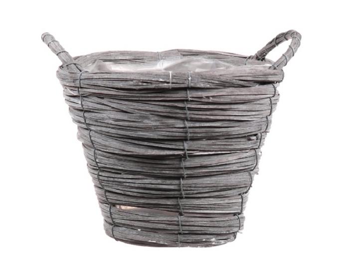 <h4>DF470602800 - Basket Paia1 d21xh16 grey</h4>