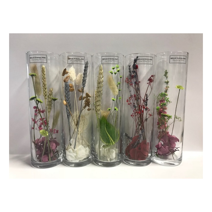 <h4>Cilinder d6.5x23h dried flowers</h4>