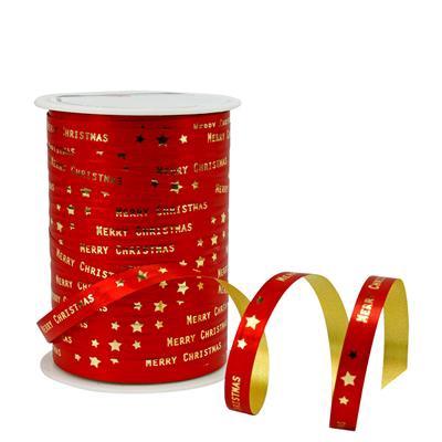 <h4>Krullint 10mm x100m christmas rood  100% recy</h4>