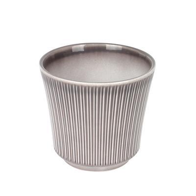 <h4>Pot Delphi en céramique Ø14xH13cm gris chaud</h4>