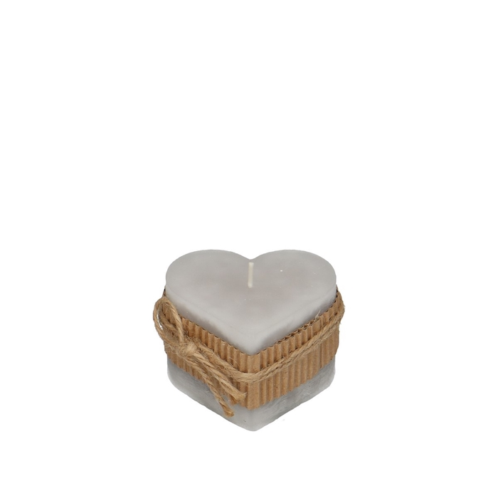 <h4>Candle Heart d7*8cm rustic</h4>