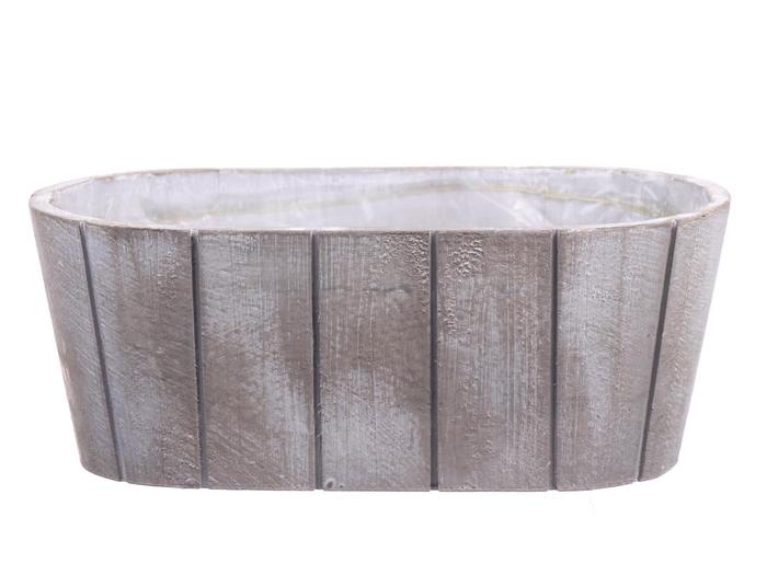 <h4>DF550090700 - Planter Arnelle 25.5x13.5 white wash</h4>