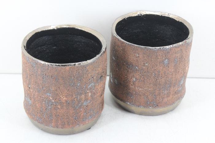 <h4>Deco. CE-434-143 - Keramiek copper gold</h4>