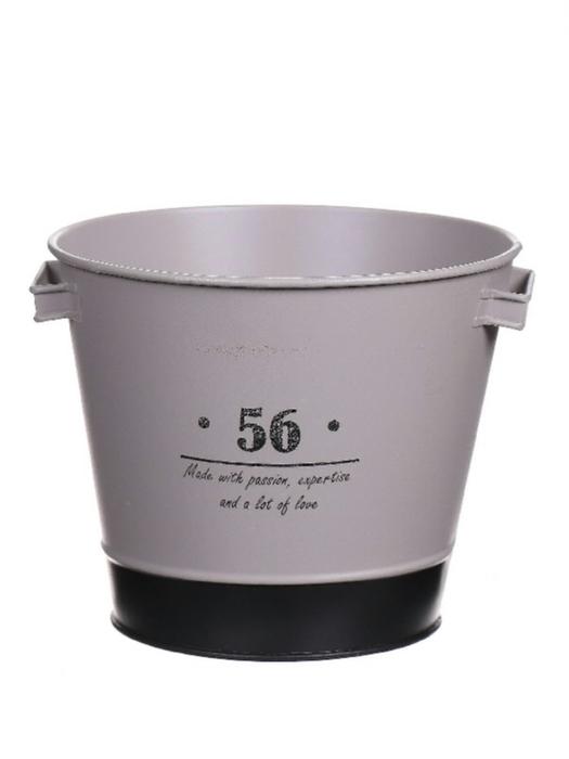 <h4>DF661970167 - Pot Paulene d15.5xh13 grey</h4>