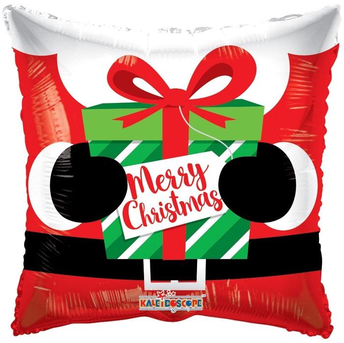 <h4>Christmas Balloon Santas present 45cm</h4>