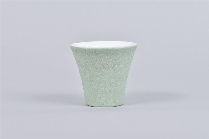 <h4>Berlijn Groen/wit Orchidee Pot 9x8cm</h4>