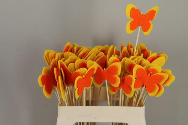 <h4>Stick Butterfly Felt Yellow/or</h4>