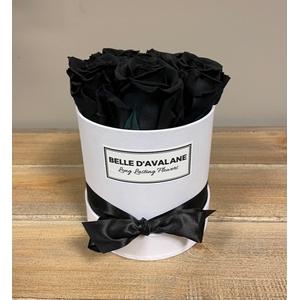 Box rd 12cm wit-zwart