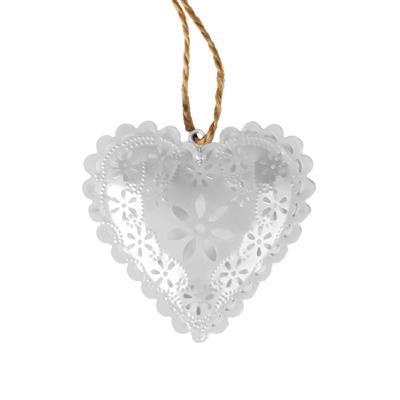 <h4>Hanger hart zink 8x8,5cm+16cm touw wit</h4>