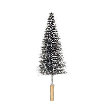 <h4>Bijsteker kerstboom+sneeuw 10cm+12cm stok</h4>