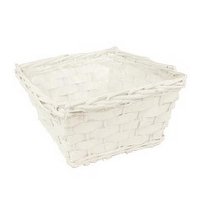 <h4>Bol Manilla bois saule L24xL24xH14cm blanc</h4>