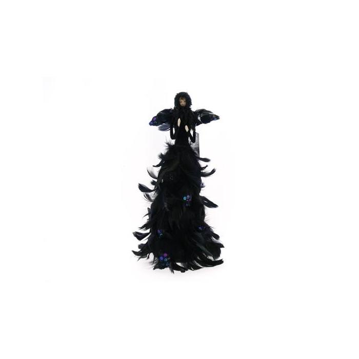 <h4>Fig. Black Feather Angel 35cm</h4>