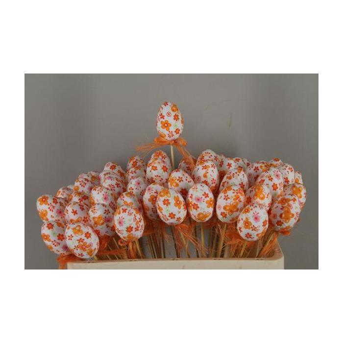 <h4>Stick Egg Fabric+bow Orange</h4>