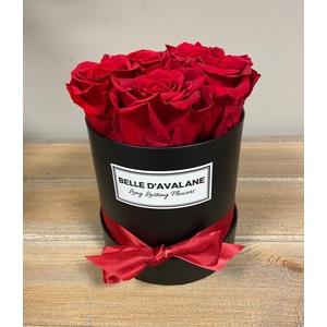 Box rd 12cm zwart-rood