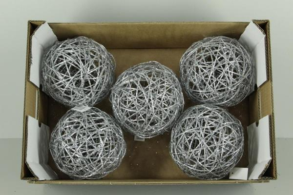 <h4>Bruce Ball 20cm Silver Gl(1pc)</h4>