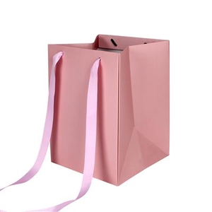 Bag Elegant carton 18x18xH25cm pink