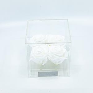 Plexi 12.5cm witte rozen