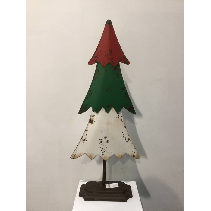 <h4>XMAS TREE RED/GREEN/WHITE 72CM OASIS-DECO</h4>