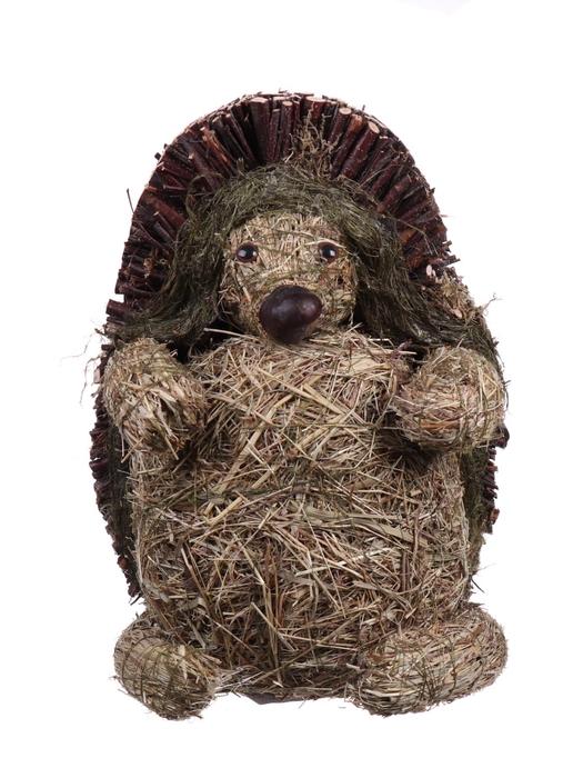 <h4>DF881531000 - Hedgehog wood+straw h28cm</h4>